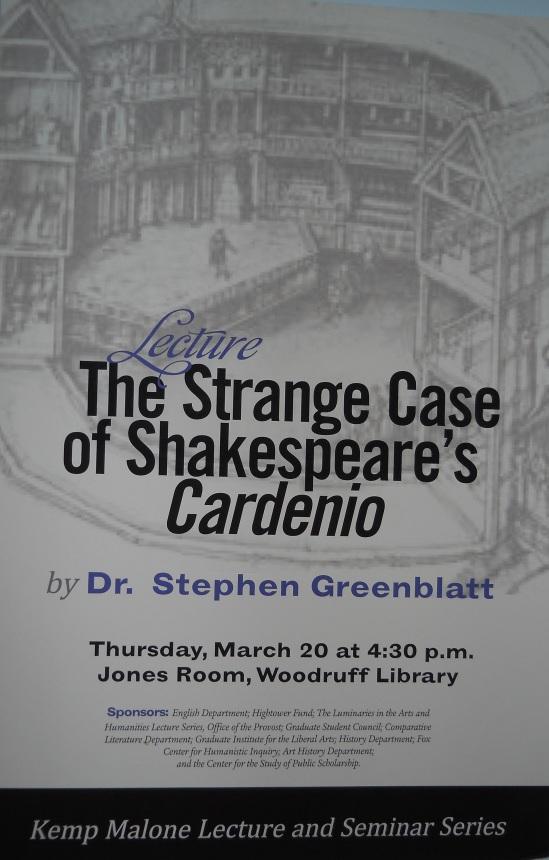 Greenblatt Lecture